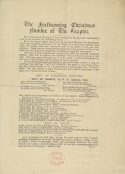 Advert for the Christmas edition of The Graphic, reverse side